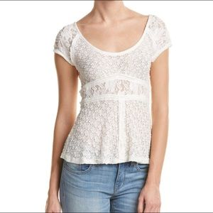 Free People ivory lace top